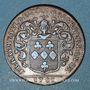 Monnaies Anjou. Mairie d'Angers. Fr Raymbauld de la Foucherie. Jeton cuivre 1701