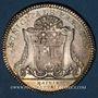 Monnaies Anjou. Mairie d'Angers. Jeton argent. Buste de Stanislas, duc d'Angers