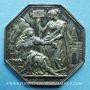 Monnaies Assurances. La Nationale. Incendie. Jeton argent 1817. Poinçon : abeille