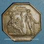 Monnaies Assurances. Paris, Mutuelle Incendie (M.A.C.I) 1817. Jeton argent. Poinçon /