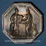 Monnaies Banque de France. Jeton argent, an VIII