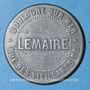 Monnaies Boulogne-sur-Mer (62). Bains Lebeau - Abonnements bains chauds Lemaire. Jeton zinc