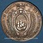 Monnaies Bretagne. Mairie de Nantes. Richard de la Pervanchère. Jeton argent 1787-88