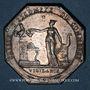 Monnaies Caisse d'Escompte du Commerce. Jeton argent (1797)