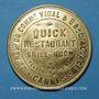 Monnaies Cannes (06). Quick restaurant (22 rue du Cdt Vidal & 8 bd d'Alsace). Jeton publicitaire