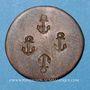Monnaies Chavanges (10). Coiffeur. Jeton publicitaire, cuivre, 18,7 mm