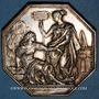 Monnaies Compagnie Royale d'assurances. Maritime Incendie. Jeton argent 1817. Poinçon : lampe antique
