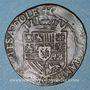 Monnaies Comté de Bourgogne. Dôle. Chambre des comptes. Philippe II (1556-1598). Jeton cuivre 1591