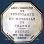 Monnaies Corps Notarial. Association de Prévoyance. Jeton argent 1874