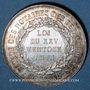 Monnaies Corps Notarial. Comité des départements. Jeton argent