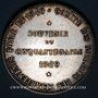 Monnaies Corps Notarial. Souvenir du cinquentenaire. 1889. Jeton argent