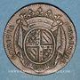 Monnaies Etats de Bourgogne. Jeton cuivre 1725