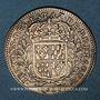 Monnaies Etats de Bretagne. Louis XIV. Jeton argent 1681. Nantes. Contremarqué d'un B à l'avers