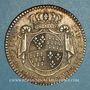 Monnaies Etats de Bretagne. Louis XV. Jeton argent 1768