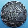 Monnaies Extraordinaire des Guerres. Louis XV. Jeton argent 1758