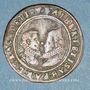 Monnaies Flandre. Bureau des Finances. Albert et Isabelle (1598-1621). Jeton cuivre 1601