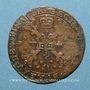 Monnaies Flandre. Bureau des Finances. Charles II (1665-1700). Jeton cuivre 1672