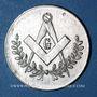 Monnaies Franc-maçonnerie. Clichy. Les Précurseurs. Jeton zinc nickelé, 25,5 mm
