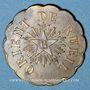 Monnaies Franc-maçonnerie. Rueil. Les Fidèles d'Hiram. Jeton laiton. 25 mm.
