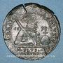 Monnaies Franche-Comté. Besançon. Chambre des comptes. Charles Quint. Jeton cuivre 1592