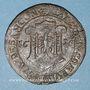 Monnaies Franche-Comté. Besançon. Chambre des comptes. Ferdinand II. Jeton cuivre 1628