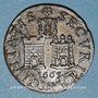 Monnaies Franche-Comté. Besançon. Co-gouverneurs. Antoine-Désiré Linglois Jeton cuivre 1665