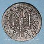 Monnaies Franche-Comté - Besançon. Co-gouverneurs. Charles Bouvot. Jeton cuivre 1667