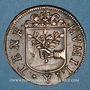 Monnaies Franche-Comté - Besançon. Co-gouverneurs - Jean-Antoine de Tinseau. Jeton cuivre 1669