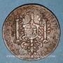 Monnaies Franche-Comté -Besançon. Co-gouverneurs. Jean-Claude Cabet, seigneur de Geneville. Jeton cuivre 1666