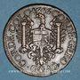 Monnaies Franche-Comté -Besançon. Co-gouverneurs. Jean-Frédéric Fiard. Jeton cuivre 1666