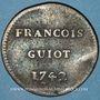 Monnaies François GUIOT. Jeton cuivre 1742