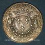 Monnaies Galères. Louis-Joseph de Vendôme, général des galères. Jeton argent 1702