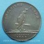 Monnaies Galères. Louis XV. Jeton argent 1747