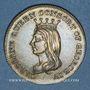 Monnaies Grande Bretagne. Mort de la reine Caroline. 1821. Jeton laiton
