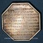 Monnaies Hainaut - Gouverneurs de Valenciennes. Ch. Fr. de Montmorency-Luxembourg. Jeton argent octogonal