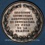 Monnaies Institut industriel agronomique et commercial du Nord de la France 1875, jeton argent, rond 37,8 mm