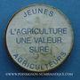 Monnaies Jeunes agriculteurs. Publicité sur pièce de 10 francs