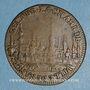 Monnaies Lorraine. Chambre de Commerce de la Ville de Nancy. Jeton cuivre 1674