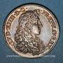 Monnaies Louis XIV (1643-1715). Jeton argent 1667. Tranche lisse.