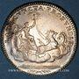 Monnaies Louis XV (1715-1774). Jeton argent n. d. Gravé par Duvivier