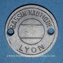 Monnaies Lyon (69). Bassin Nautique. Jeton publicitaire, contremarque 10 au revers