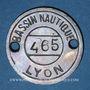 Monnaies Lyon (69). Bassin Nautique, n° 465. Jeton publicitaire, contremarque 2 à l'avers