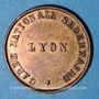 Monnaies Lyon (69). Garde Nationale Sédentaire. Présence d'Exercice, 3e Bataillon, 8e cie. Jeton publicitaire