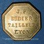 Monnaies Lyon (69). J.F. Didier - Tailleur, Lyon (place de l'Herberie, n° 2). Jeton publicitaire