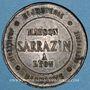 Monnaies Lyon (69). Maison Sarrazin. Bijouterie - joaillerie - orfèvrerire. Jeton publicitaire laiton