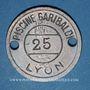Monnaies Lyon (69). Piscine Garibaldi, n° 25. Jeton publicitaire, contremarques B et 6 au revers