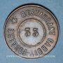 Monnaies Lyon (69). Restaurant Garbit-Fougère. N° 33. Jeton cuivre