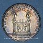 Monnaies Lyon. Académie Littéraire. Jeton argent 1700. Date en chiffres arabes