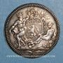Monnaies Lyon. Académie Littéraire. Jeton argent 1700. Var avec date en chiffres romains