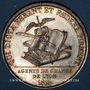 Monnaies Lyon. Agents de change. Jeton argent 1816. Poinçon : lampe